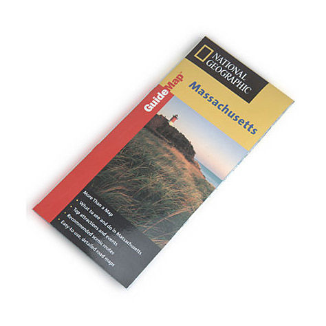 photo: National Geographic Massachusetts Map us northeast paper map