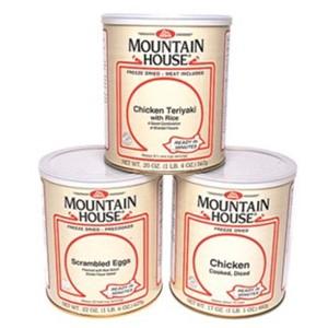 photo: Mountain House #10 Cans meat entrée