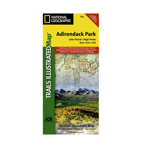 photo: National Geographic Lake Placid/High Peaks Map - Adirondack National Park us northeast paper map