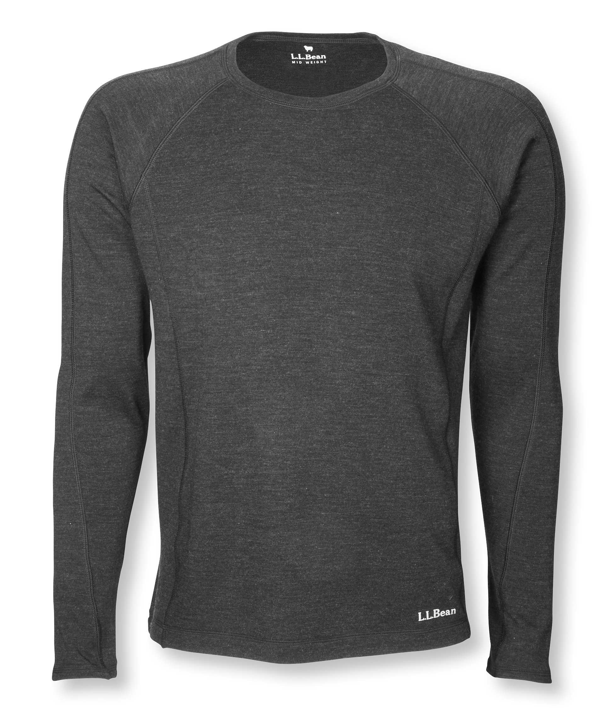 photo: L.L.Bean Cresta Wool Midweight Base Layer, Crew base layer top