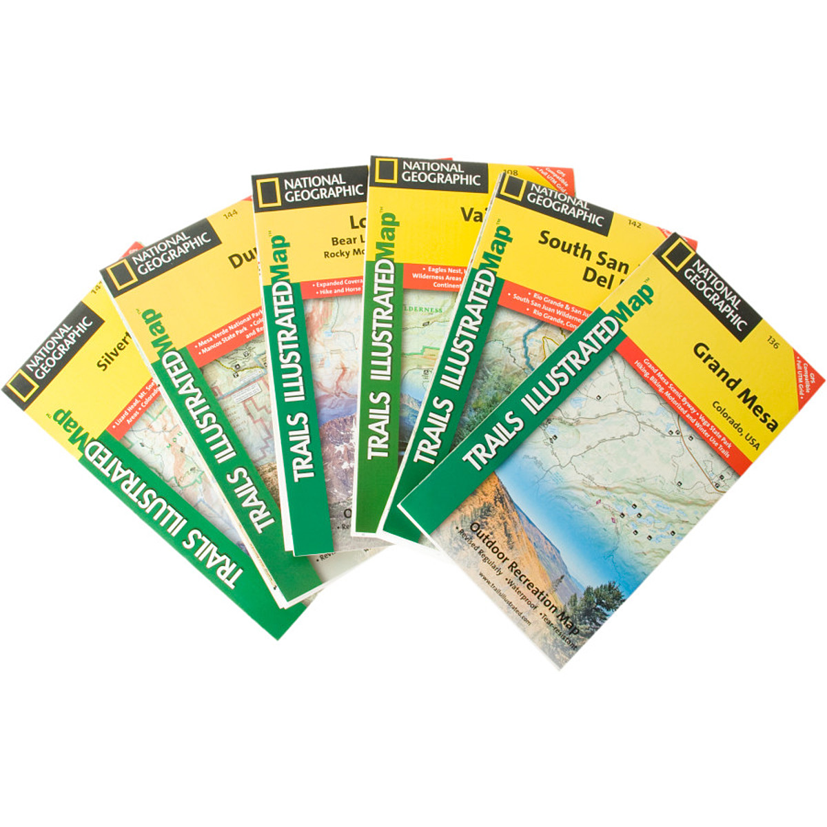 photo: National Geographic Colorado Rocky Mountain Maps us mountain states paper map