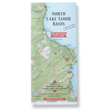 Fine Edge North Lake Tahoe Basin Map