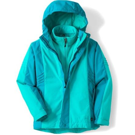 photo: REI Girls' Timber Mountain 3-in-1 Jacket component (3-in-1) jacket