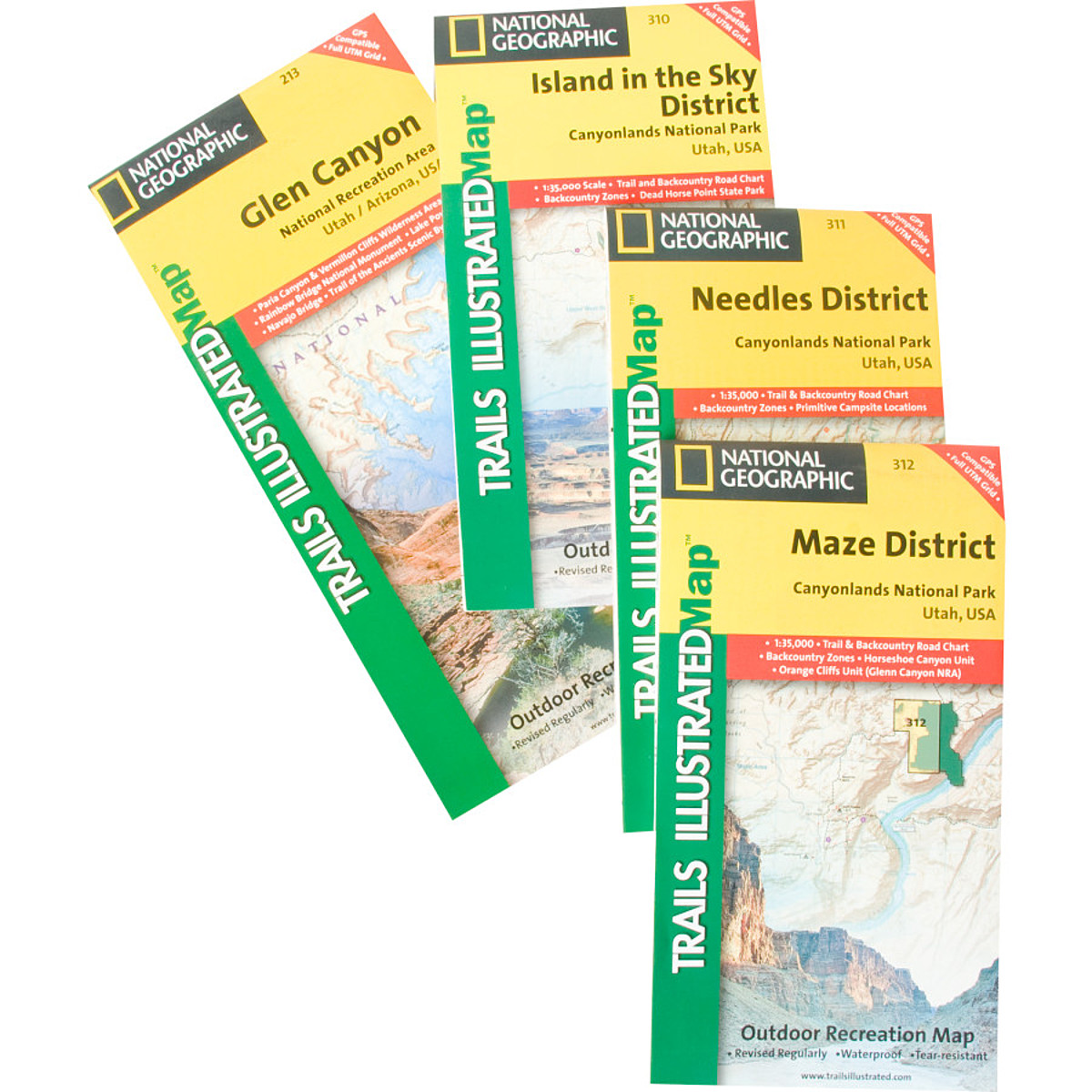 National Geographic Utah Rocky Mountain Maps