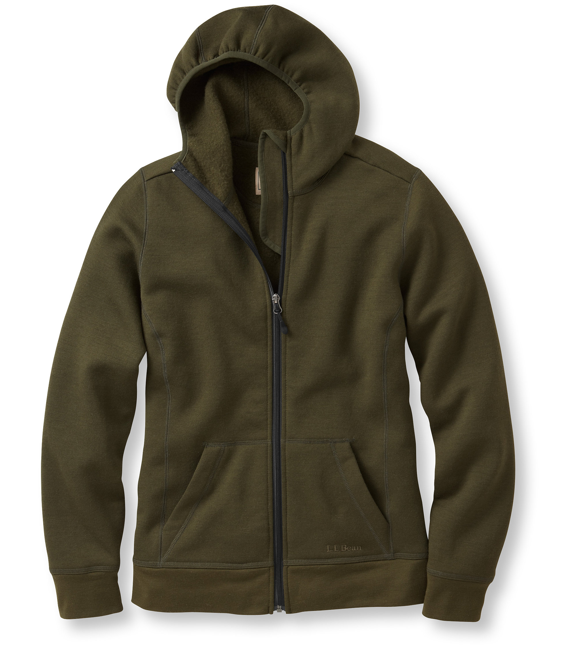 L.L.Bean Merino Wool Hooded Sweatshirt