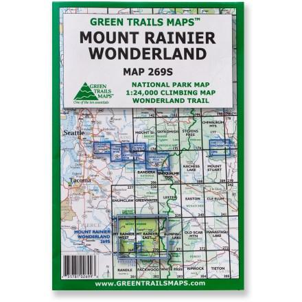 Green Trails Maps Mount Rainier Wonderland Map