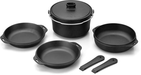 photo: Snow Peak Cast Iron Duo Cookset pot/pan