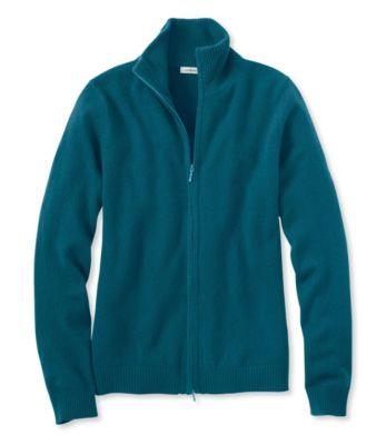 L.L.Bean Classic Cashmere, Full-Zip Cardigan