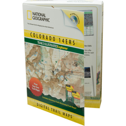 photo: National Geographic Colorado 14ers Trails Illustrated Explorer 3D us mountain states map application
