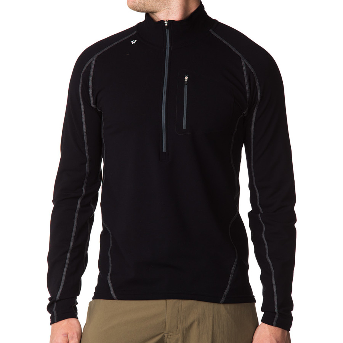 photo: Stoic Breathe Composite Zip T base layer top
