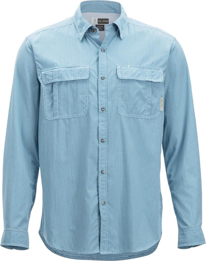 photo: ExOfficio BugsAway Halo Check Long-Sleeve Shirt hiking shirt