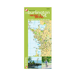 photo: Map Adventures Burlington Hiking & Biking Map us northeast paper map