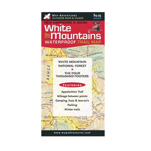 photo: Map Adventures White Mountains Waterproof Trail Map us northeast paper map