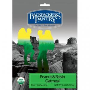 photo: Backpacker's Pantry Organic Peanut Butter & Raisin Oatmeal breakfast