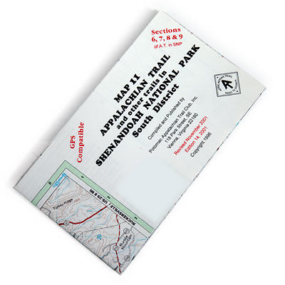 photo: Appalachian Trail Conservancy Shenandoah National Park Map-Southern District us south paper map