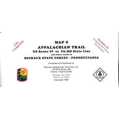 photo: Appalachian Trail Conservancy Pennsylvania US Route 30 to PA-MD State Line us northeast paper map