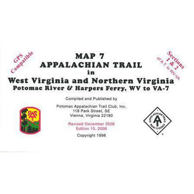 photo: Appalachian Trail Conservancy Northern Virginia Map-North us south paper map