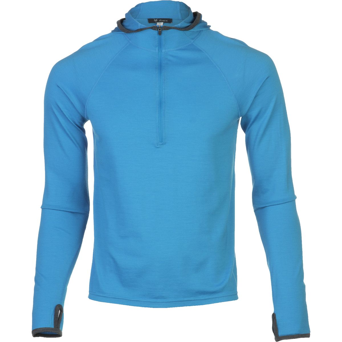 photo: Ibex Men's Hooded Indie long sleeve performance top