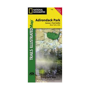 photo: National Geographic Saranac/Paul Smiths Map - Adirondack National Park us northeast paper map