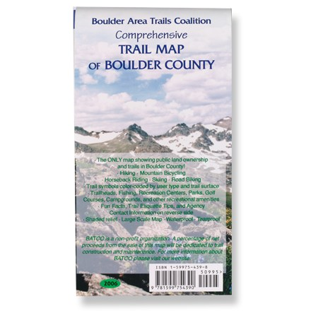 photo of a Boulder Area Trails Coalition us mountain states paper map