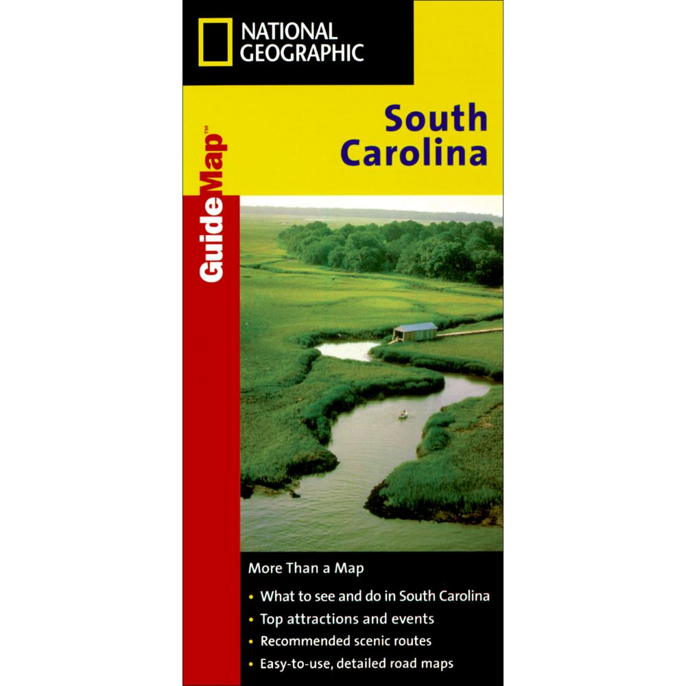 photo: National Geographic South Carolina Map us south paper map