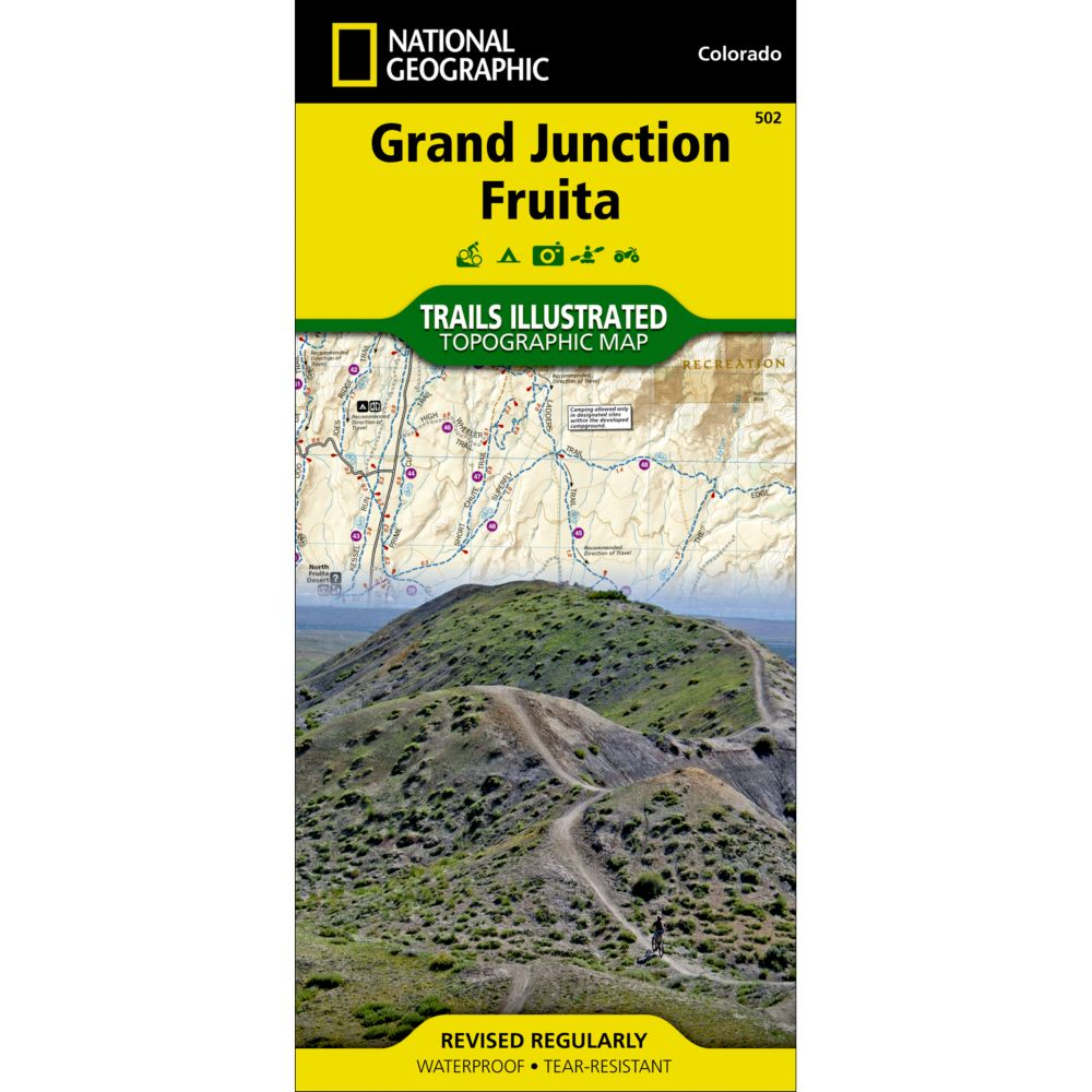 photo: National Geographic Grand Junction/Fruita Trail Map us mountain states paper map