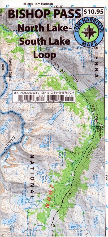 Tom Harrison Maps Bishop Pass: North Lake-South Lake Loop