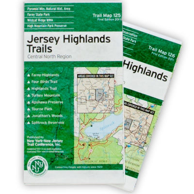 NY-NJ Trail Conference Jersey Highlands: Central North Region Trail Map