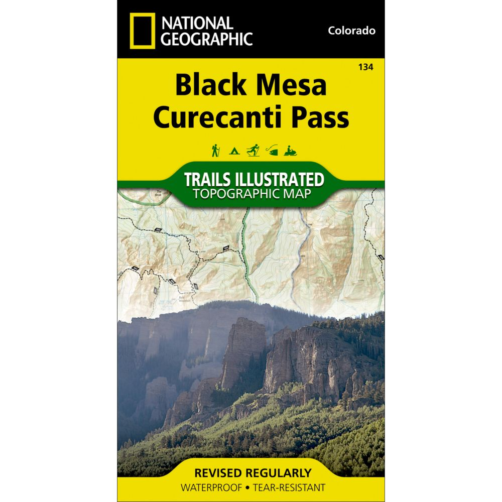 photo: National Geographic Black Mesa/Curecanti Pass Trail Map  us mountain states paper map