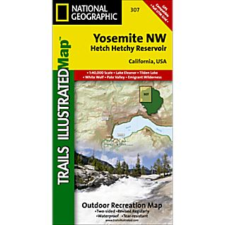 photo: National Geographic Yosemite NW - Hetch Hetchy Reservoir us pacific states paper map
