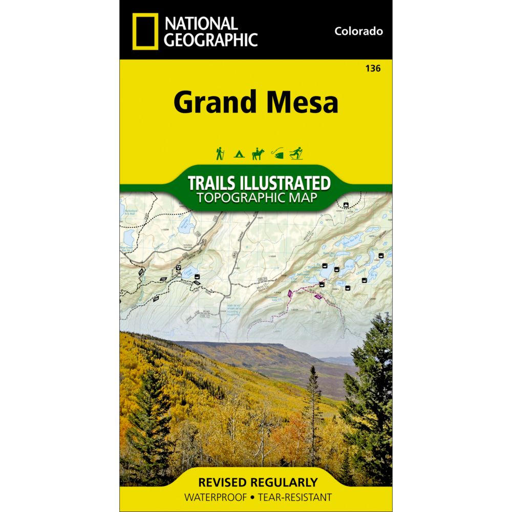 photo: National Geographic Grand Mesa Trail Map  us mountain states paper map