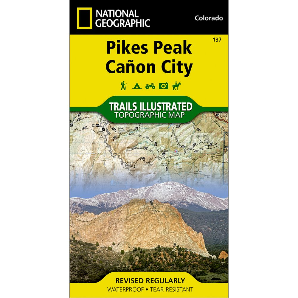 National Geographic Pikes Peak/Canon City Trail Map
