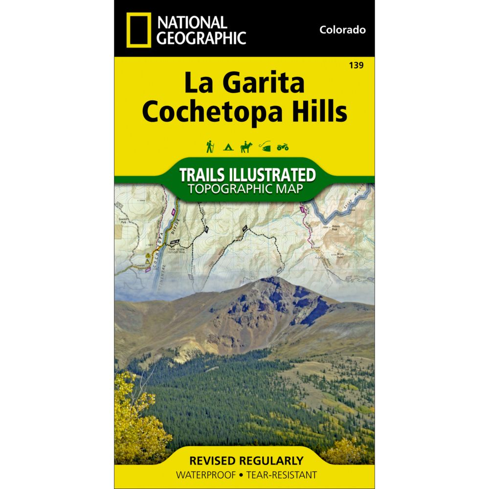 photo: National Geographic La Garita/Cochetopa Hills Trail Map  us mountain states paper map