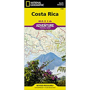 photo: National Geographic Costa Rica Map international paper map