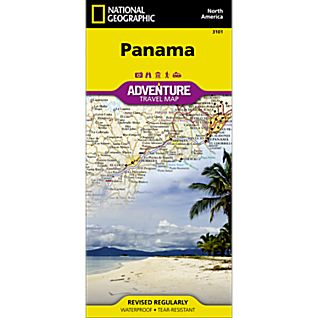 photo: National Geographic Panama Map international paper map