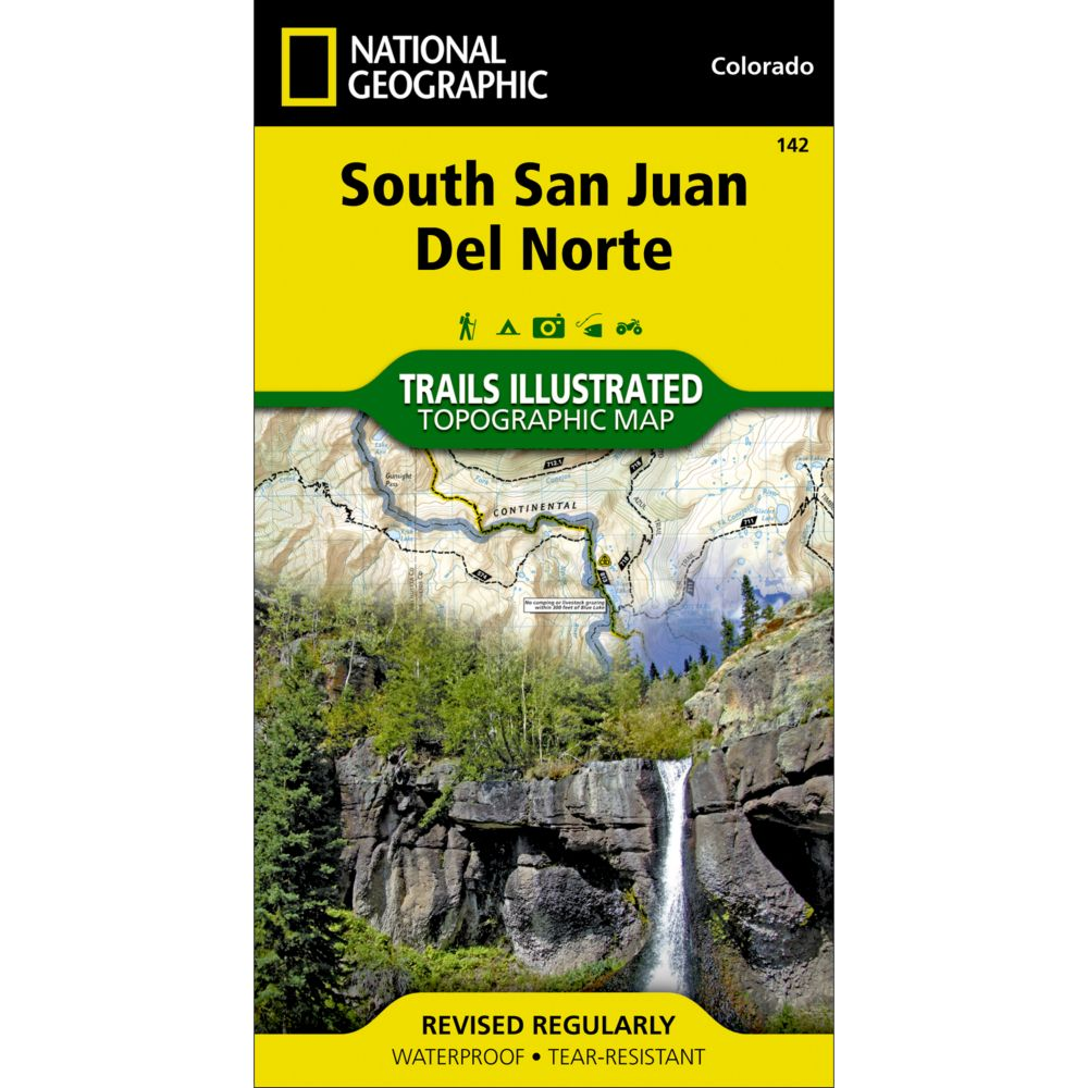 National Geographic South San Juan/Del Norte Map