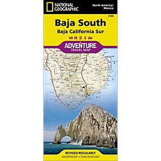 photo: National Geographic Baja South Adventure Map international paper map