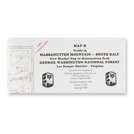 Potomac Appalachian Trail Club Map H - Trails in Massanutten Mountain, South Half