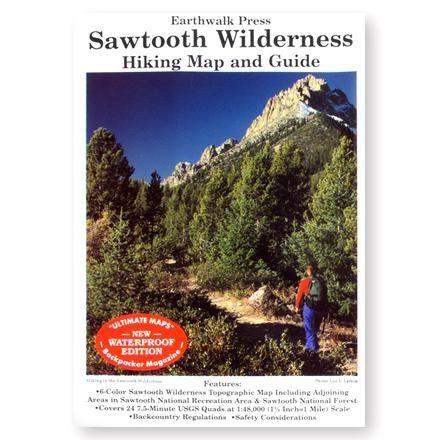 photo: Earthwalk Press Sawtooth Widerness Hiking Map and Guide us mountain states paper map