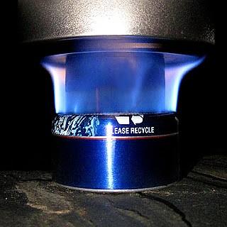 photo: Zelph's Stoveworks Cobalt Blue Soloist alcohol stove
