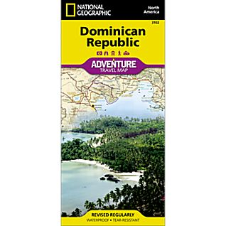 photo: National Geographic Dominican Republic Adventure Map international paper map