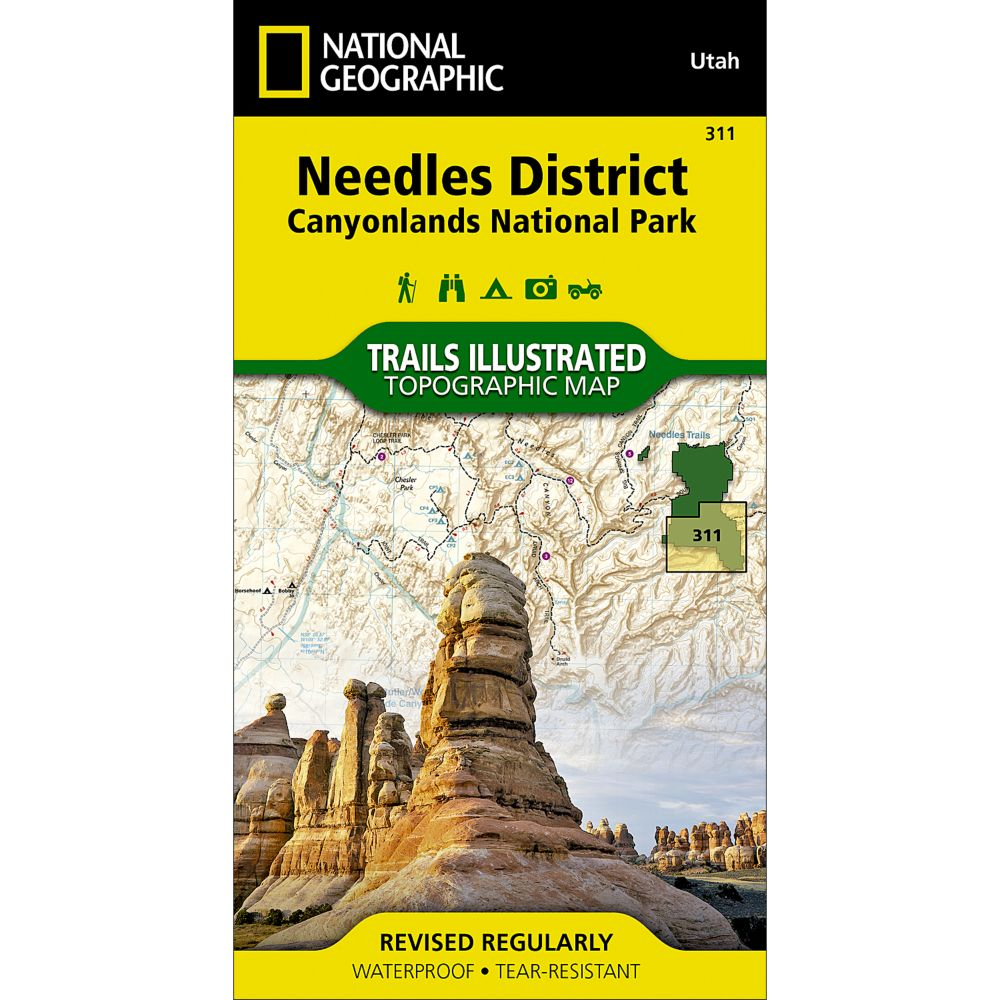 National Geographic Needles District Trail Map - Canyonlands National Park