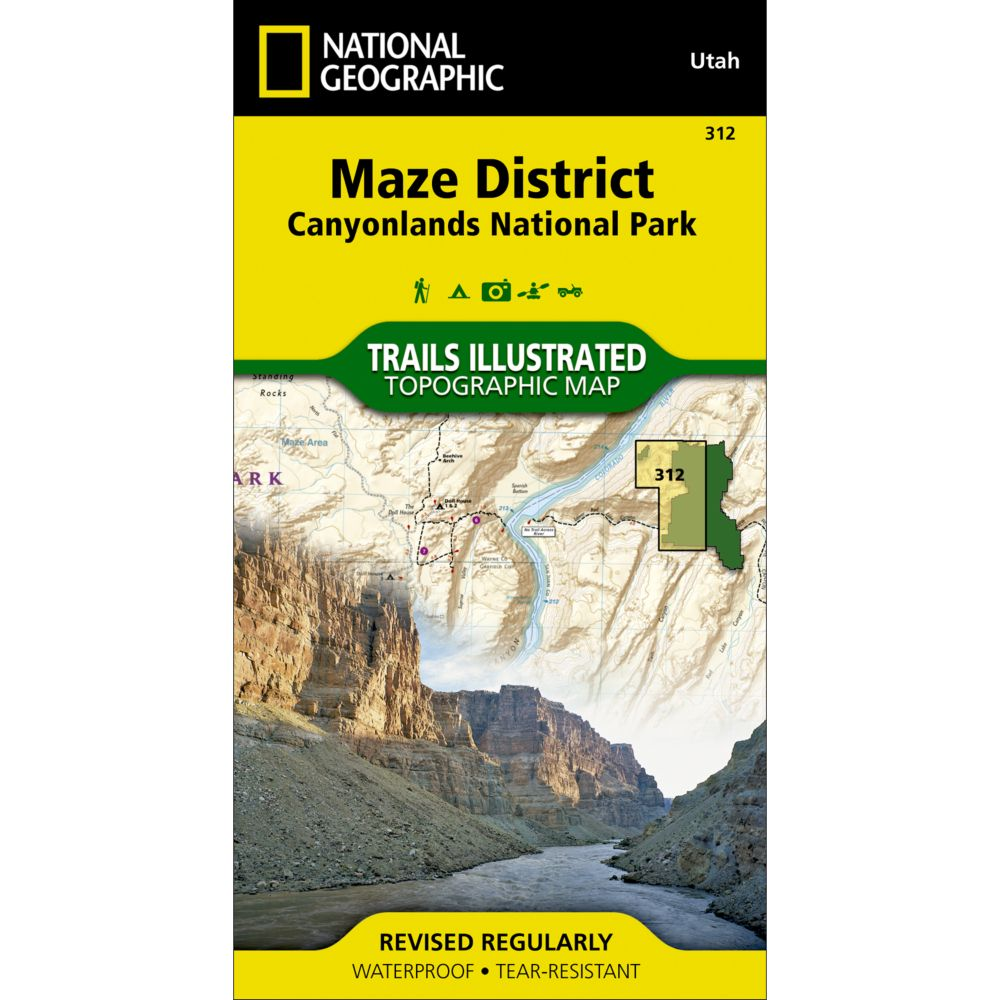 National Geographic Maze District Trail Map - Canyonlands National Park