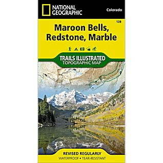 photo: National Geographic Maroon Bells/Redstone/Marble Map us mountain states paper map