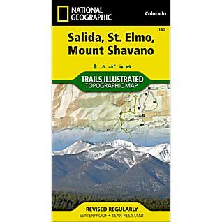 National Geographic Salida, St. Elmo, Shavano Map