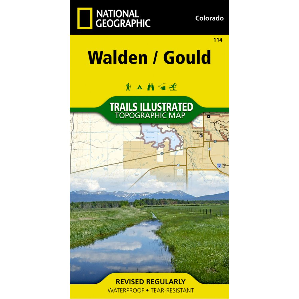 photo: National Geographic Walden/Gould Trail Map  us mountain states paper map