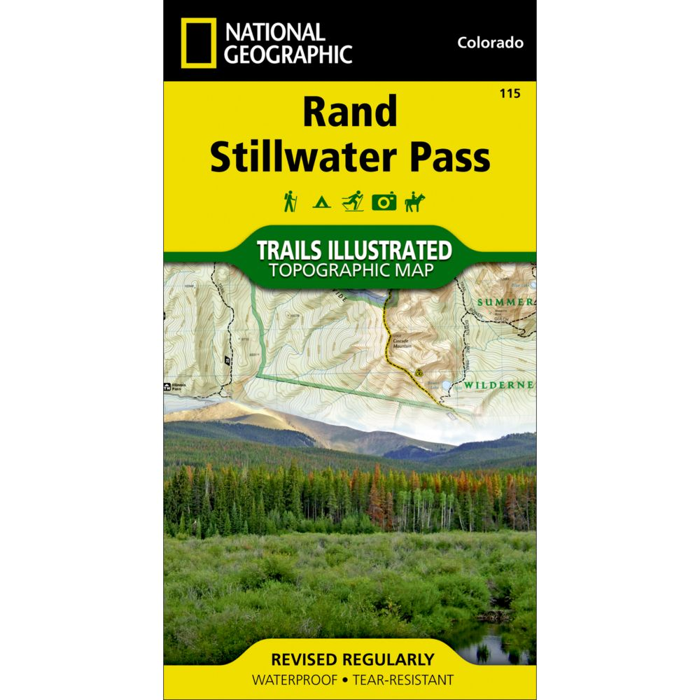 photo: National Geographic Rand/Stillwater Pass Trail Map  us mountain states paper map