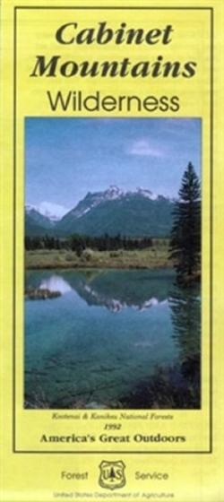 U.S. Forest Service Cabinet Mountains Wilderness Map