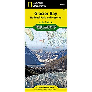 National Geographic Glacier Bay National Park Trail Map