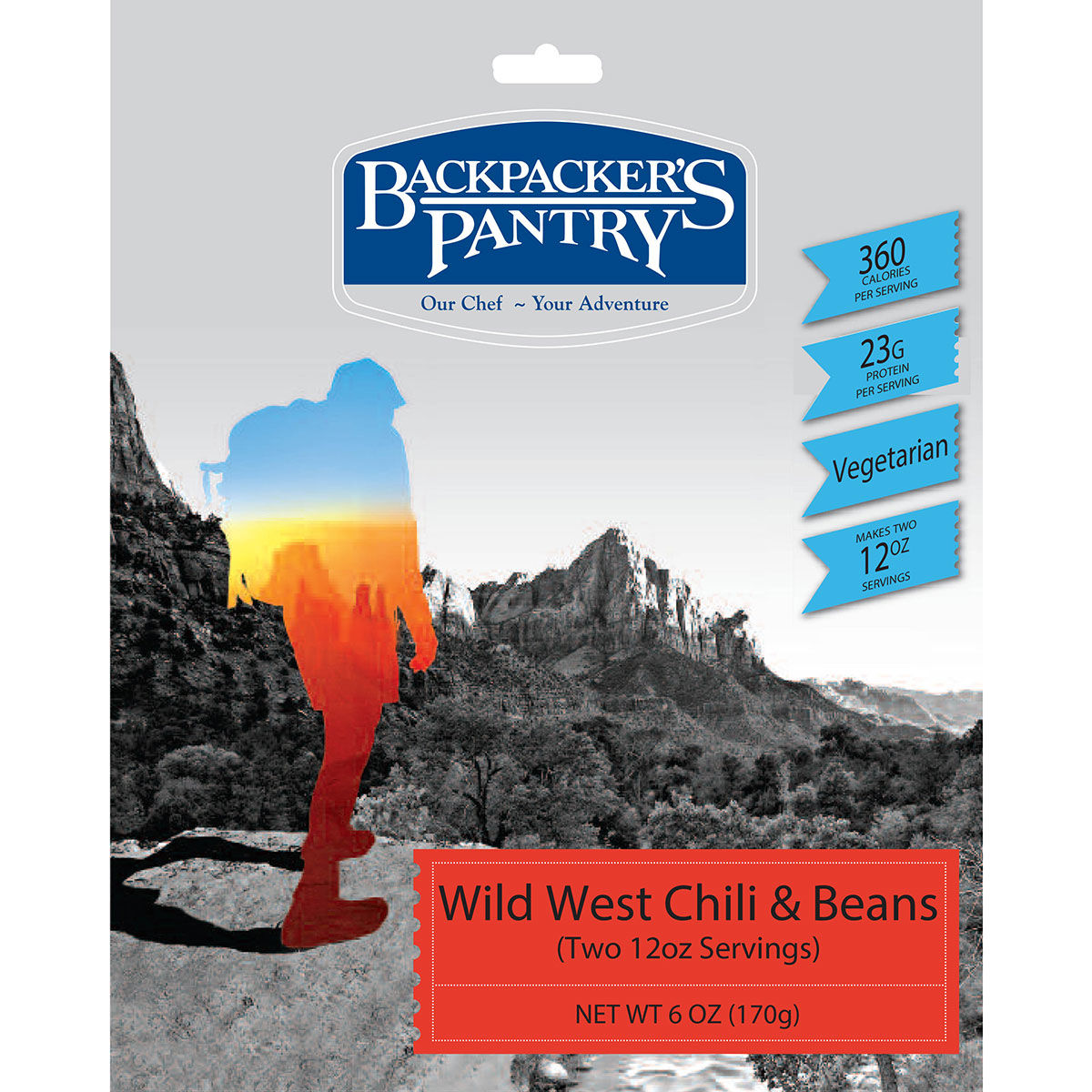 photo: Backpacker's Pantry Wild West Chili & Beans vegetarian entrée